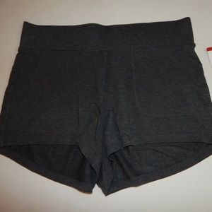 Active Life Size XL Ladies' Charcoal Knit Shorts